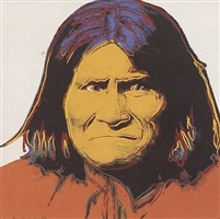 cowboys and indians - geronimo [ii.384] by andy warhol